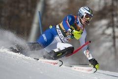 FRA: Слалом людей Val D'Isere горных лыж стоковые изображения