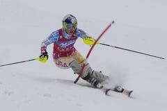 FRA :高山滑雪联合的Val D'Isere超级 免版税库存图片