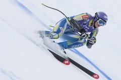 FRA :高山滑雪联合的Val D'Isere超级 免版税图库摄影