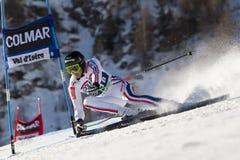 FRA :高山滑雪Val D'Isere人的GS 图库摄影