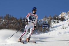 FRA :高山滑雪Val D'Isere人的GS 免版税图库摄影