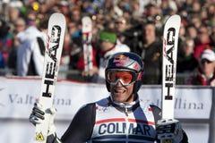FRA: Alpiene het ski?en Val D'Isere GS van mensen Royalty-vrije Stock Afbeeldingen