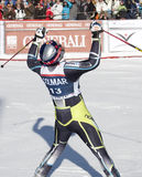 FRA: Alpiene het ski?en Val D'Isere GS van mensen Royalty-vrije Stock Foto