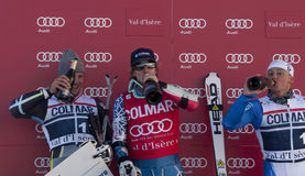 FRA: Alpiene het ski?en Val D'Isere GS van mensen Stock Fotografie