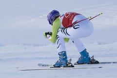 FRA: Alpin skidåkning sluttande Val D'Isere Arkivfoto