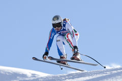 FRA: Alpine skiing Val D'Isere downhill Stock Photography
