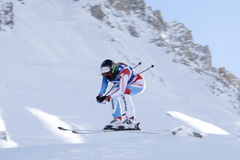 FRA: Alpine skiing Val D'Isere downhill Royalty Free Stock Photography