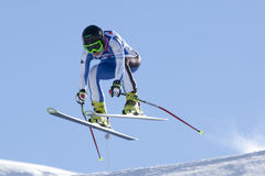 FRA: Alpine skiing Val D'Isere downhill Royalty Free Stock Photos
