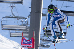 FRA: Alpine skiing Val D'Isere downhill Royalty Free Stock Photo