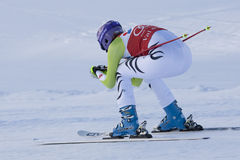 FRA: Alpine skiing Val D'Isere downhill Stock Photo