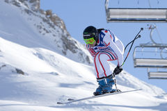 FRA: Alpine skiing Val D'Isere downhill Stock Image
