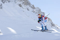 FRA: Alpine skiing Val D'Isere downhill Stock Images