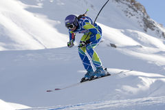 FRA: Alpine skiing Val D'Isere downhill Royalty Free Stock Images