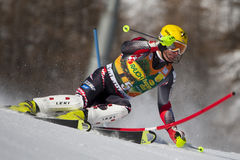 FRA: Alpine skiing Val D'Isere men's slalom Royalty Free Stock Photos