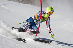 FRA: Alpine skiing Val D'Isere men's slalom Stock Photo