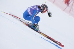 FRA: Alpine skiing Val D'Isere Super Combined Royalty Free Stock Image