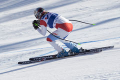 FRA: Alpine skiing Val D'Isere Women DH trg2 Royalty Free Stock Photography