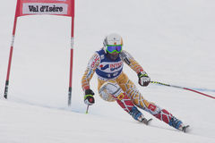 FRA: Alpine skiing Val D'Isere Women DH trg1 Royalty Free Stock Image