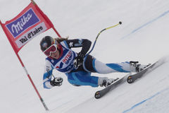 FRA: Alpine skiing Val D'Isere Women DH trg1 Royalty Free Stock Photos