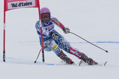 FRA: Alpine skiing Val D'Isere Women DH trg1 Stock Photo