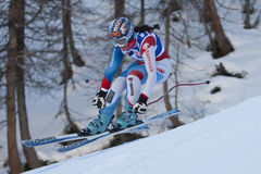 FRA: Alpine skiing Val D'Isere Women DH trg2 Royalty Free Stock Photos