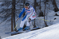 FRA: Alpine skiing Val D'Isere Women DH trg2 Stock Photos
