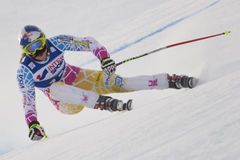 FRA: Alpine skiing Val D'Isere Women DH trg1 Royalty Free Stock Photography