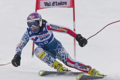 FRA: Alpine skiing Val D'Isere Women DH trg1 Royalty Free Stock Images