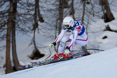 FRA: Alpine skiing Val D'Isere Women DH trg2 Stock Images