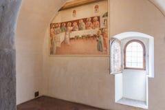 Fra Angelico: το τελευταίο βραδυνό Στοκ εικόνα με δικαίωμα ελεύθερης χρήσης