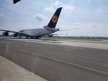 A380. @FRA big plane Stock Images