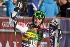FRA: De alpiene het ski?en Val D'Isere slalom van mensen Royalty-vrije Stock Afbeeldingen