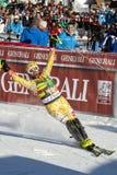 FRA: De alpiene het ski?en Val D'Isere slalom van mensen Royalty-vrije Stock Afbeelding