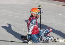 FRA: Der GS alpines Skifahren Val- D'Iseremänner lizenzfreies stockbild