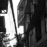 Fra due costruzioni Fotografie Stock Libere da Diritti