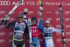 FRA: El GS de los hombres de Val D'Isere del esquí alpino Fotografía de archivo libre de regalías