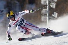 FRA: El GS de los hombres de Val D'Isere del esquí alpino imagen de archivo