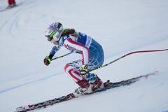 FRA: För Val D'Isere för alpin skidåkning DH trg2 kvinnor Royaltyfria Foton