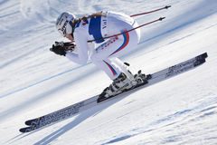 FRA: För Val D'Isere för alpin skidåkning DH trg2 kvinnor Royaltyfri Bild