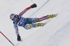 FRA: För Val D'Isere för alpin skidåkning DH trg1 kvinnor Royaltyfri Foto
