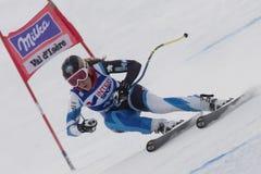FRA: För Val D'Isere för alpin skidåkning DH trg1 kvinnor Royaltyfria Foton