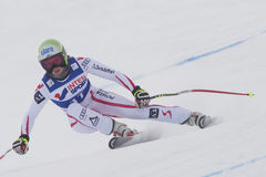 FRA: För Val D'Isere för alpin skidåkning DH trg1 kvinnor Royaltyfri Fotografi