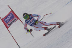 FRA: För Val D'Isere för alpin skidåkning DH trg1 kvinnor Royaltyfri Bild