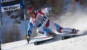 FRA: GS των ατόμων Val D'Isere alpine skiing Στοκ Εικόνα