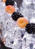 Fra i cubi di ghiaccio Fotografie Stock