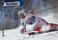 FRA: Il GS degli uomini di Val D'Isere di sci alpino fotografia stock libera da diritti