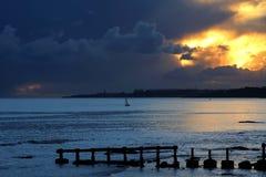 Fra il tramonto e la notte Fotografia Stock