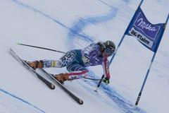 FRA: Kombinerat Val D'Isere för alpin skidåkning toppet Arkivfoto