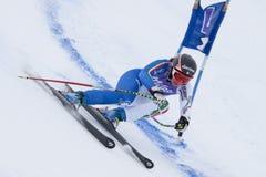 FRA: Kombinerat Val D'Isere för alpin skidåkning toppet Royaltyfria Foton
