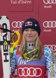 FRA: Kombinerat Val D'Isere för alpin skidåkning toppet Arkivbild